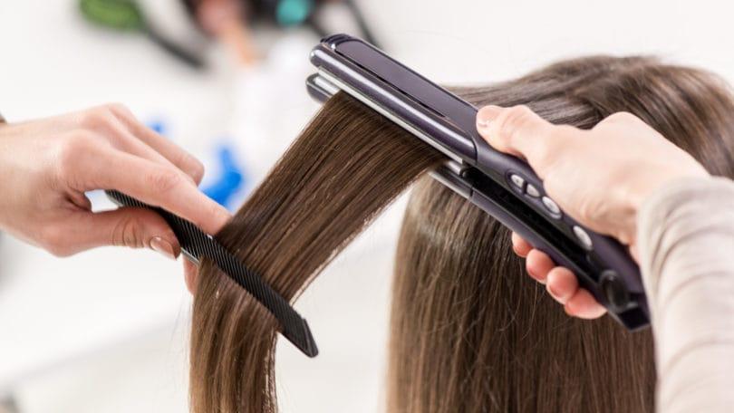 процедура кератинового лечения волос
